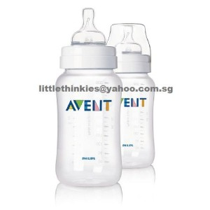 Philips Avent Classic Polypropylene Bottle 11oz Pack of 2