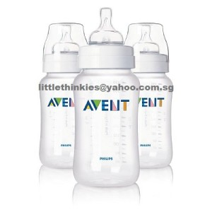 Philips Avent Classic Polypropylene Bottle 11oz Pack of 3