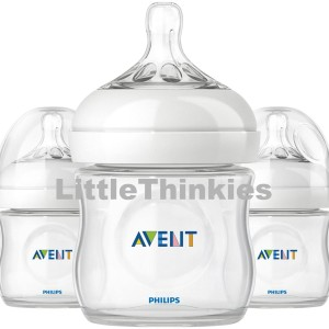 Philips Avent Natural Polypropylene Bottle 4oz Pack of 3