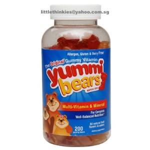 Yummi Bears Multi-Vitamin & Mineral Gummies 200ea